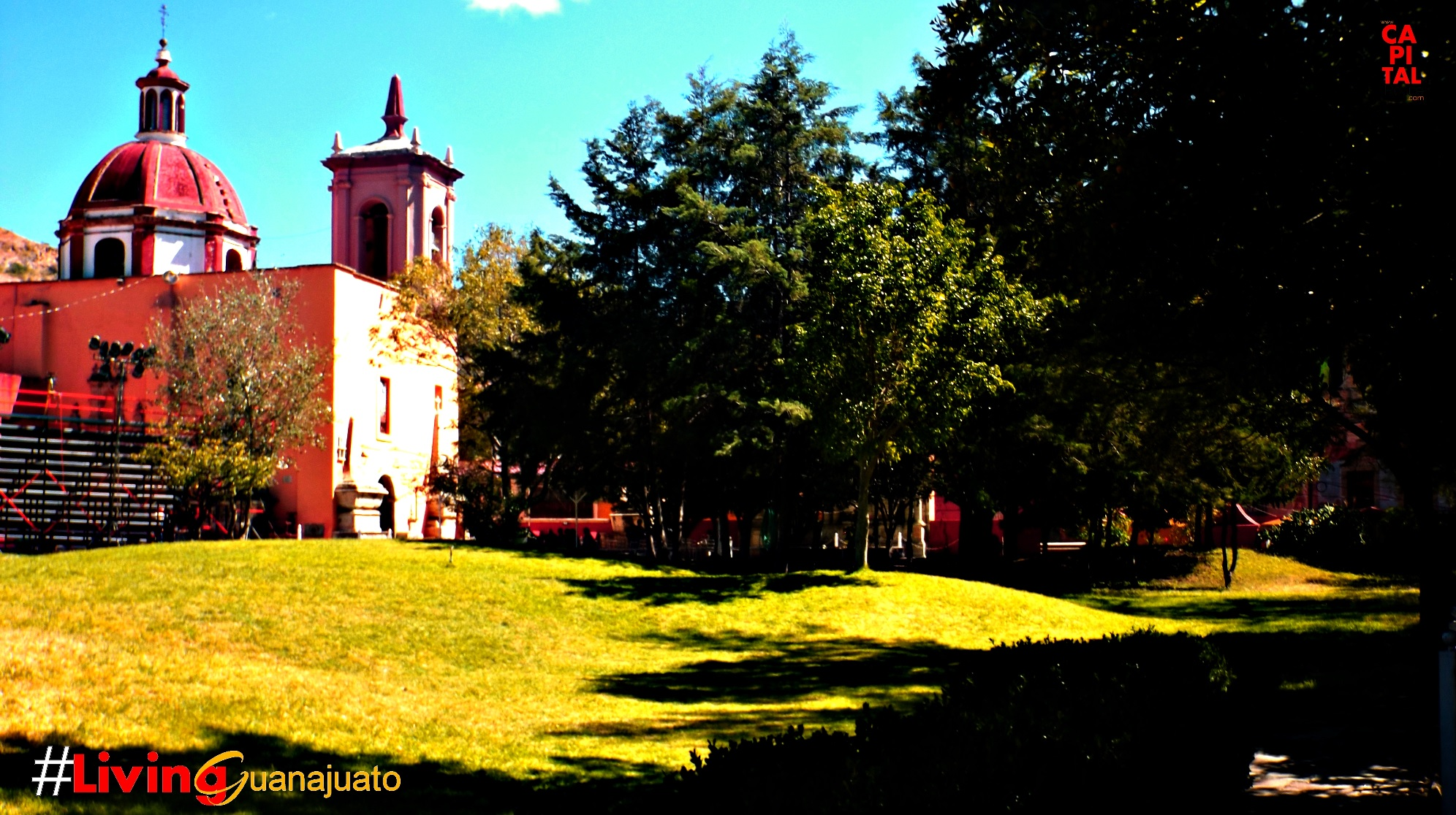 Jardín del Templo de San Sebastian Guanajuato Capital.